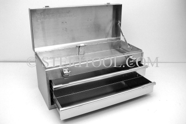 #20220 - 2 Drawer Stainless Steel Portable Tool Chest. tool box, stainless steel, tote, chest, storage, portable