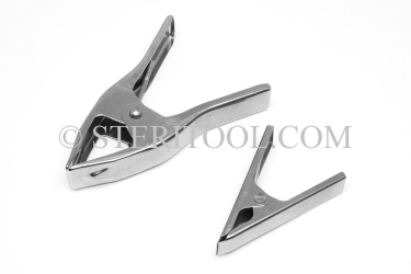 "#9949 - SPRING CLAMP, 4"" X 1""(25) OPENING..12lb.(5.5kg.) Tip Force, 316SS. clamp, spring, fabrication, stainless steel"