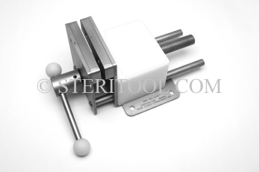 "#10001 - 4"" Stainless Steel Bench Vise. vise, clamp, work holding, stainless steel, fabrication"