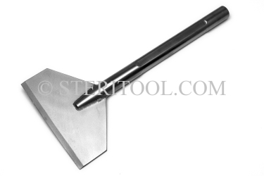 "#10291 - 3""(75mm) Stainless Steel Chisel 11""(275mm) OAL. 17-4PH SHAFT / 316SS BLADE. chisel, stainless steel"