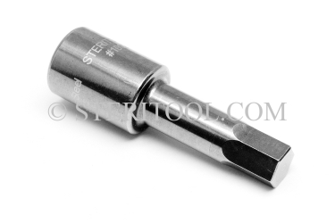 #10892 - 2.5mm Hex x 3/8 DR Stainless Steel Bit. 3/8 dr, 3/8dr, 3/8-dr, hex, bit, staInless steel