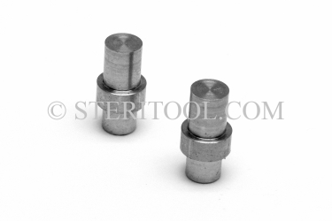 #11120 - 1.0mm Stainless Steel Tips for #11110, pair. pin, wrench, c spanner, stainless steel, collar, bushing