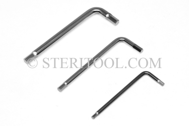 #11940 - SET: 9 pc Stainless Steel L Hex Key Standard Length Metric Set: 1.5mm ~ 6.0mm. L. hex, stainless steel