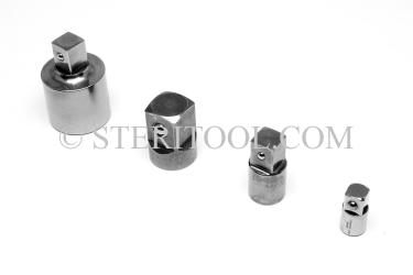 #10695 - 1/2 DR Female to 3/8 DR Male Stainless Steel Adaptor. 1/2 dr, 1/2dr, 1/2-dr, 3/8dr, 3/8 dr, 3/8-dr, stainless steel, adaptor