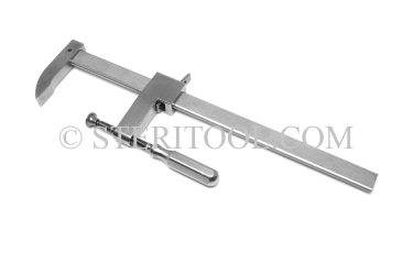 "#09900_8 - 8""(200mm) Stainless Steel Sliding Bar Clamp. clamp, sliding, stainless steel, work holding, fabrication"