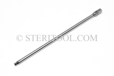 "#11478_SP6 - 5/32"" BALL Hex x 6""(150mm) OAL Stainless Steel Bit. hex, bit, driver, screwdriver, stainless steel, allen"