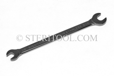 "#10134 - Stainless Steel 1/4"" x 5/16"" Open End Wrench. wrench, open end, stainless steel, spanner"