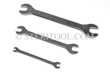 "#10160 - SET: 8 pc Stainless Steel Open End Wrench Inch Set 1/4"" ~ 1-1/4"". wrench, open end, stainless steel, spanner"
