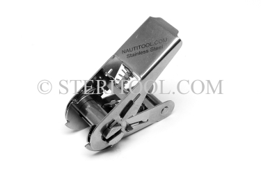 "#10405 - 1"" Stainless Steel Ratchet Buckle. ratchet tie-down, strapping, rigging, stainless steel"