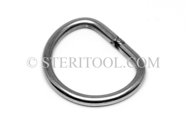 "#10461 - 2"" x 5/16"" Stainless Steel ""D"" Ring for 2"" Webbing. ratchet tie-down, strapping, rigging, stainless steel"