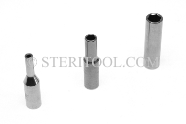 "#10470 - 1/8"" x 1/4dr Stainless Steel Deep Socket. 1/4dr, 1/4 dr, 1/4-dr, deep, socket, stainless steel"