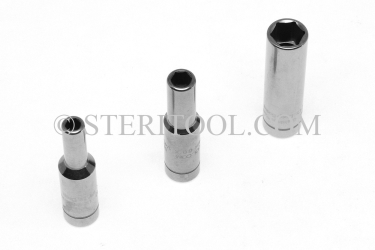 #10489 - SET: 9 pc Stainless Steel 1/4DR Deep Well Metric Sockets,  4mm ~ 10mm. 1/4dr, 1/4 dr, 1/4-dr, deep, socket, stainless steel