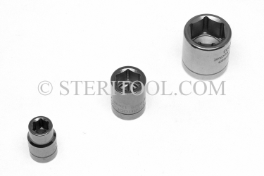 #10520 - 6mm x 3/8 DR Standard Stainless Steel Socket. 3/8dr, 3/8-dr, 3/8 dr, socket, stainless steel