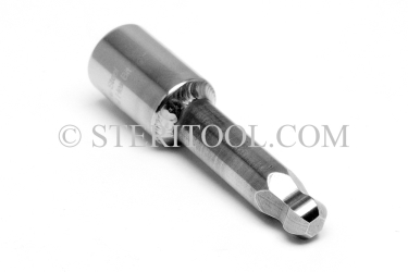 "#10987 - 5/64"" Ball Hex x 1/4 DR Stainless Steel Bit, 2-1/4"" OAL. 1/4 dr, 1/4dr, 1/4-dr, ball hex, bit, staInless steel"