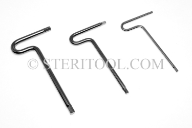 "#11945 - SET: 7 pc Stainless Steel T Hex Key Inch Set: 7/64"" ~ 1/4"". T, hex, hex key, formed, stainless"