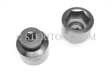 #12456 - 19mm X 3/4 DR Stainless Steel Deep Socket. 3/4dr, 3/4-dr, 3/4 dr, deep socket, stainless steel
