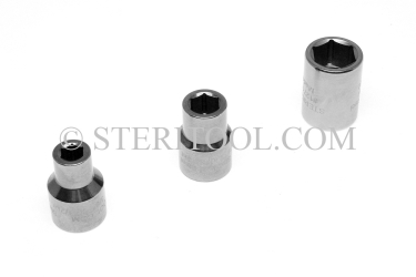 "#12706 - 3/8"" X 1/2 DR Stainless Steel Standard Socket. 1/2dr, 1/2-dr, 1/2 dr, socket, stainless steel"