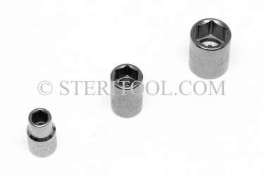 "#12955 - 1/8"" x 1/4 DR Stainless Steel Standard Socket. 1/4dr, 1/4 dr, 1/4-dr, socket, stainless steel"