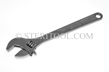 "#20002 - 10""(250mm) Stainless Steel Adjustable Wrench. adjustable wrench, adjustable spanner, stainless steel"