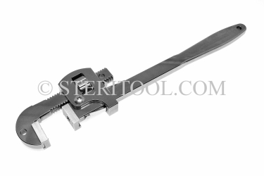 "#20017 - 10""(250mm) Stainless Steel PipeWrench, Interchangeable Jaws. pipe wrench, adjustable wrench, pipe, stainless steel"