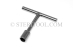 #30372 - 22mm Stainless Steel 'T' Nut Driver. - 30372