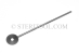 "#90050 - 1.0mm Thick Stainless Steel ""Lollipop"" Gauge Stick, 6""(150mm)OAL. - 90050"