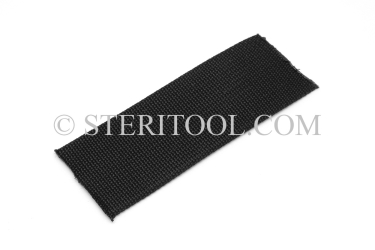 "#10442 - 2"" NYLON (Black) Webbing, per foot. ratchet tie-down, strapping, rigging, stainless steel"