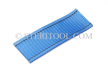 "#10443 - 2"" POLY (Blue) Webbing, per foot. ratchet tie-down, strapping, rigging, stainless steel"