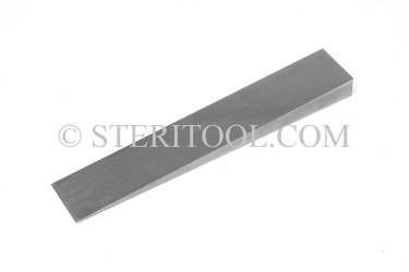 "#50019 - 3/4""(19mm) W x .25""(6.3mm) H x 3""(75mm) L Stainless SteelWedge. wedge, stainless steel"